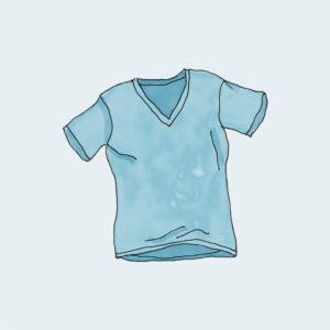 V-Neck T-Shirt – Azul