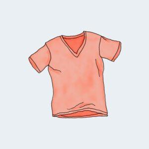 V-Neck T-Shirt – Vermelho